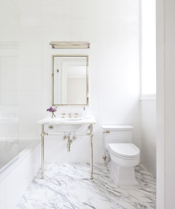 Inspiring You With All White Bathrooms