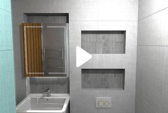 Grey Modern Wet Room