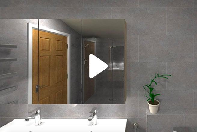 Modern Grey Family Bathroom