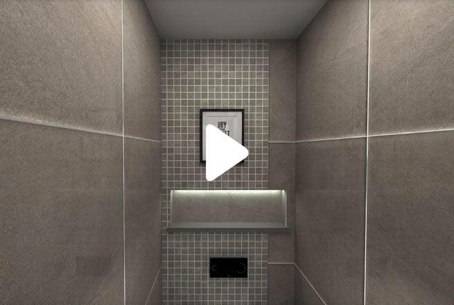 Grey-Cloakroom