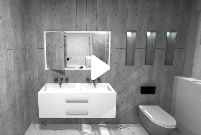 Grey Hotel Style Bathroom