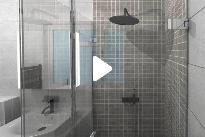 Grey Mosaic Bathroom