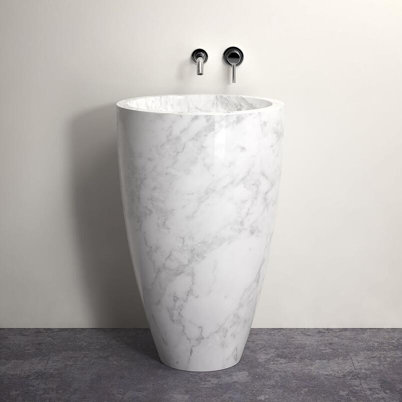 How to complete your bathroom with stone elements 14