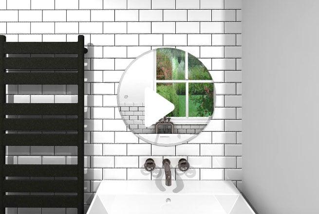 Metro & Patterned Tiles Bathroom